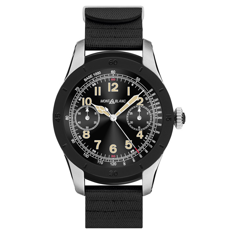 Montblanc Summit Smartwatch bi-colour steel - black rubber strap