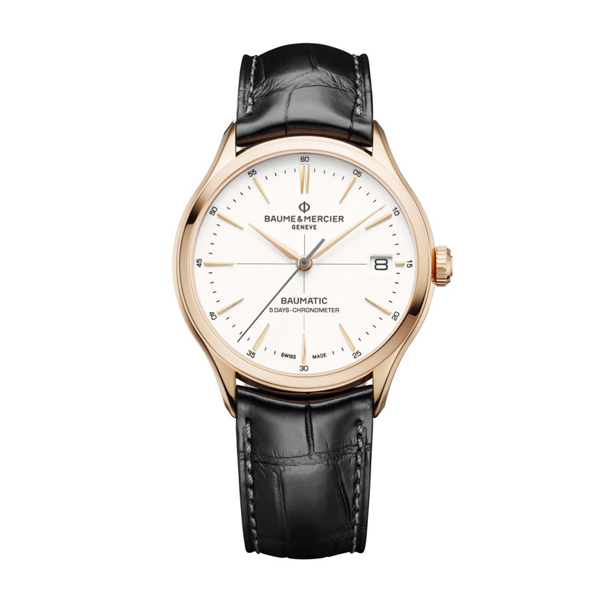 Clifton Baumatic 18k Pink Gold Automatic