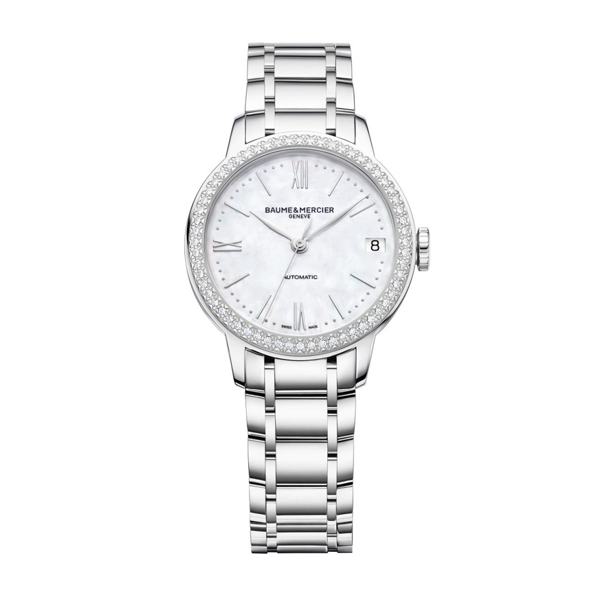 Classima 31mm Mother-Of-Pearl Automatic with Diamond-Set Bazel